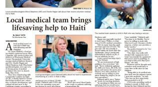 LocaL medical team brings lifesaving help to Haiti