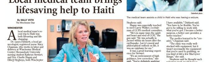 LocaL medical team brings lifesaving help to Haiti