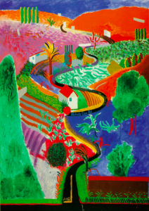 """Nichols Canyon"" by artist David Hockney , Oil"